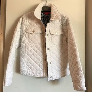 Joe Fresh White Quilted Jeans Jacket